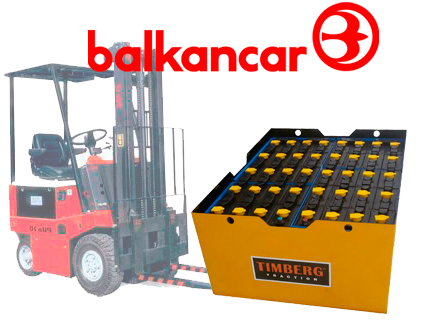 Тяговая батарея Timberg Traction 40х3PzS240 для электропогрузчика Balkancar EB-687