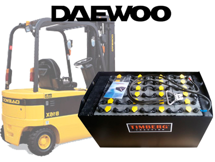 Тяговая батарея Timberg Traction 24х5PzS625 для электропогрузчика Daewoo B16X