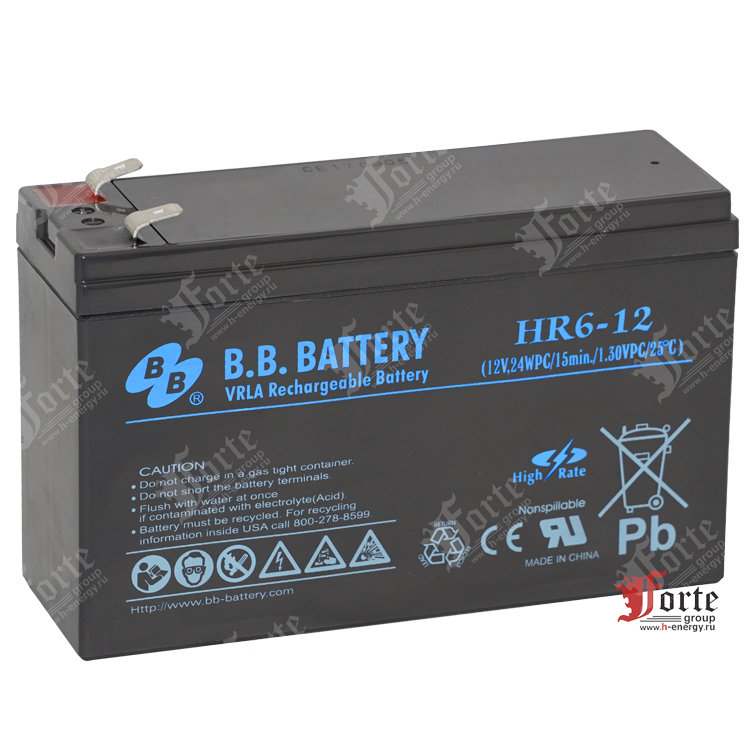 BB Battery HR6-12 (12v 6Ah)