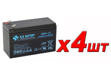 BB Battery HR9-12 АКБ ×4шт