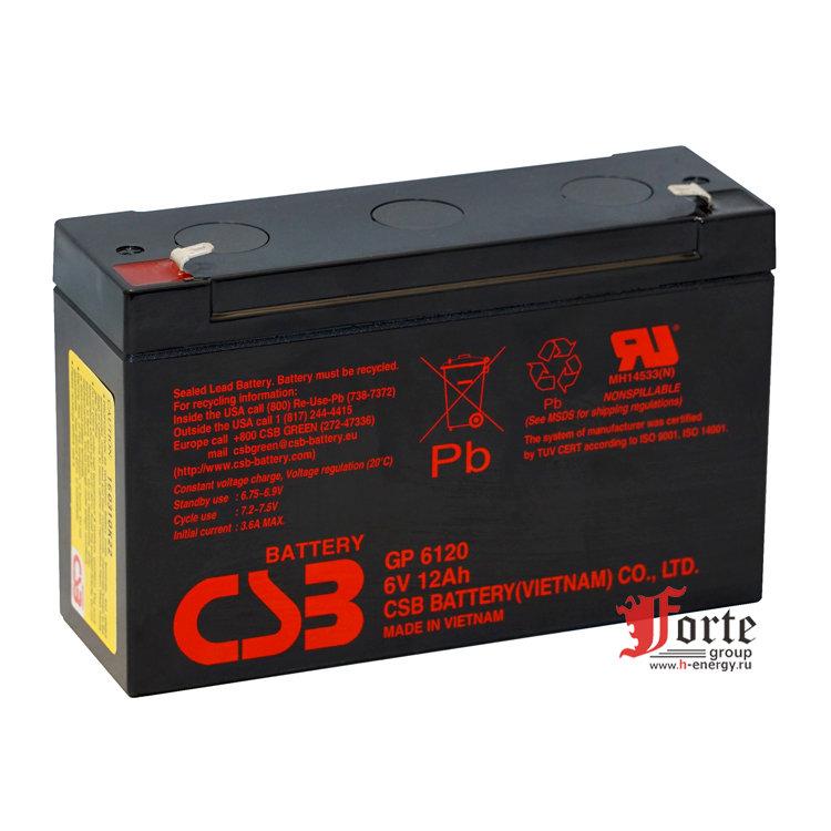 Тяговый аккумулятор CSB GP 6120 - фото 2
