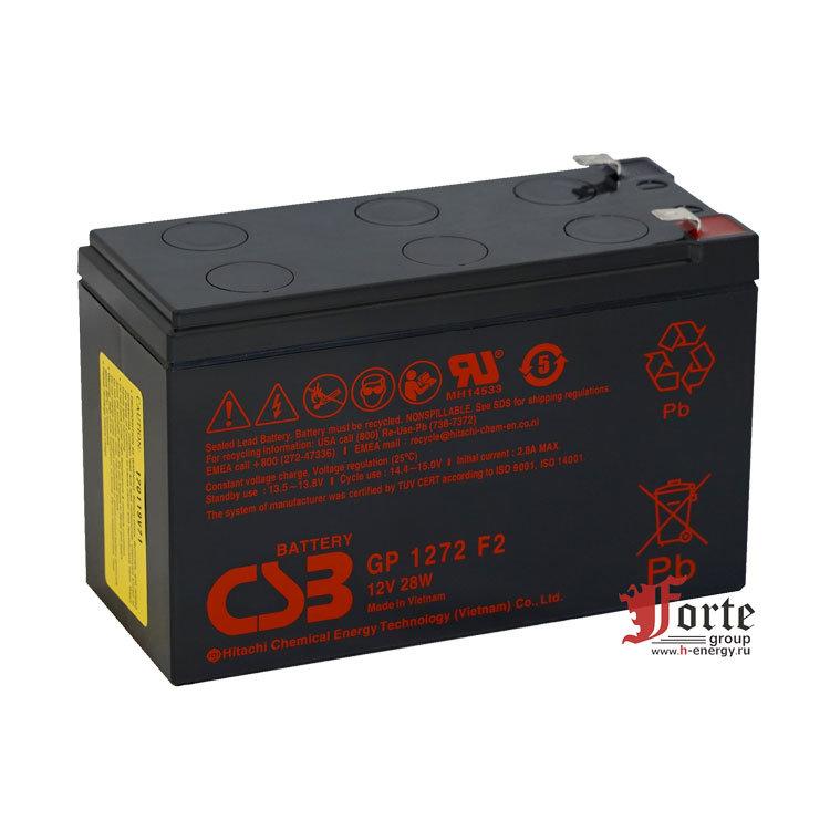 Автомобильный аккумулятор WBR GP1272 F2 12V 7.2Ah - фото 6