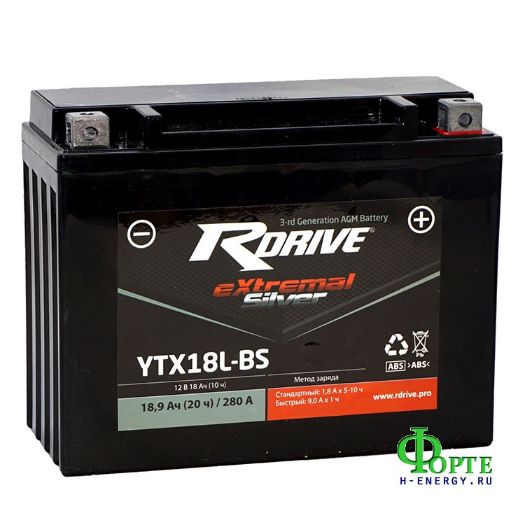 RDrive eXtremal Silver YTX18L-BS